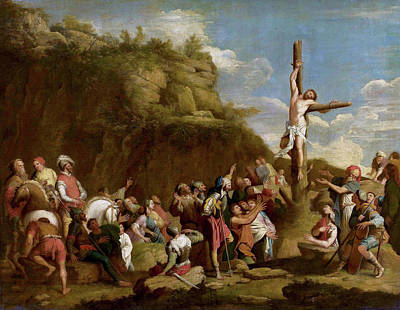 Rosa Painting - Crucifixion Of Polyclitus by Salvator Rosa