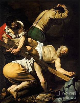 Caravaggio Painting - Crucifixion Of Saint Peter by Celestial Images