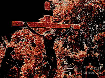 Digital Art - Crucifixion Scene by Ed Weidman