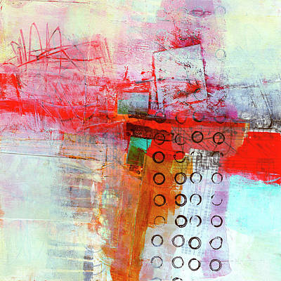 Abstract Collage Painting - Cruciform Study#2 by Jane Davies