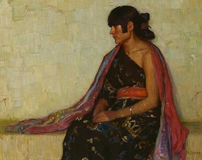 Painting - Crucita - Old Hopi Dress by Joseph Henry Sharp