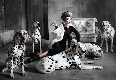 Cruella De Vil Print by Margarita Kareva