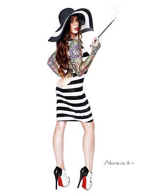 Cruella Fashion Print by Robert Alvarado