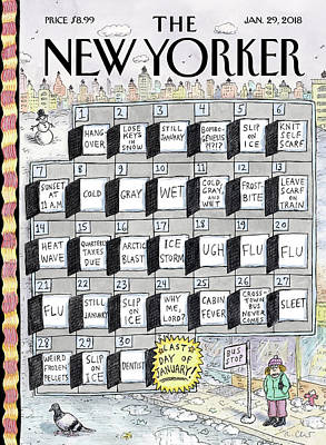 Calendar Drawing - Cruellest Month by Roz Chast