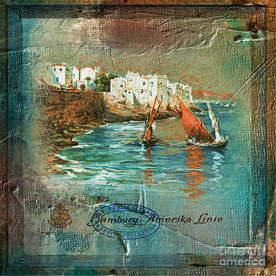 Digital Art - Cruise Dinner Menu 2016 by Kathryn Strick