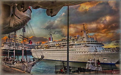 Print featuring the photograph Cruise Port by Hanny Heim