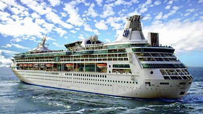 Cactus Royalty Free Images - Cruise Ship Royalty-Free Image by Anthony Dezenzio
