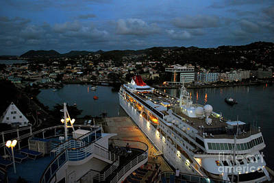 Photograph - Cruise Ship At Antigua by Gary Wonning