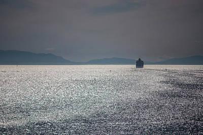 Photograph - Cruise Ship, Burrard Inlet, Vancouver by David Halperin
