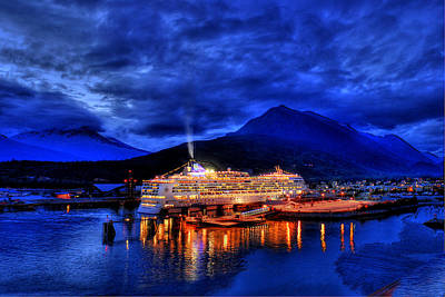 Photograph - Cruise Ship In Alaska by Don Wolf