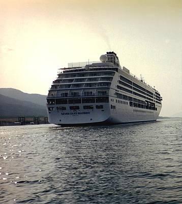 Art Print featuring the photograph Cruise Ship In Alaska by Judyann Matthews