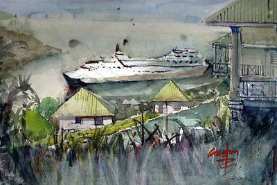 Painting - Sitting In The Dock Of The Bay, Kingstown, St Vincent  by Gaston McKenzie