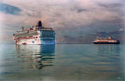 Photograph - Cruise Ship Parking by Hanny Heim