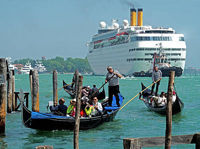 Photograph - Cruise Ship Port Of Venice by Dennis Cox WorldViews