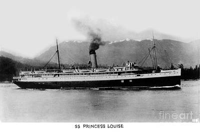 Photograph - Cruise Ship Ss Princess Louise On The Inside Passage  Circa 1932 by California Views Mr Pat Hathaway Archives