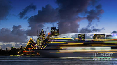 Photograph - Cruise Ship Sydney Harbour by Andrew Michael