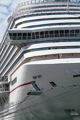 Photograph - Cruise Ship Visits Key West by Bob Slitzan