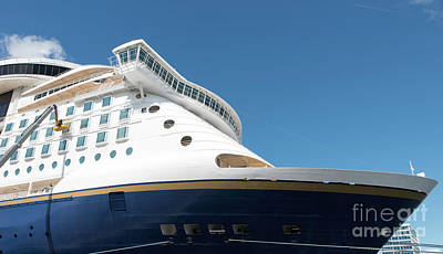 Photograph - Cruise Ship With Blue Sky Background by Compuinfoto