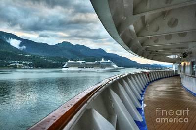 Photograph - Cruise Ships At Juneau by Mel Steinhauer