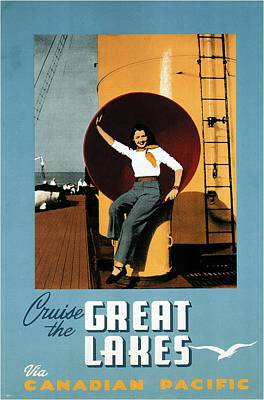 Royalty-Free and Rights-Managed Images - Cruise The Great Lakes - Canadian Pacific - Retro travel Poster - Vintage Poster by Studio Grafiikka