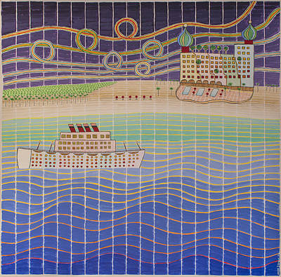 Painting - Cruise Vacation Destination by Jesse Jackson Brown
