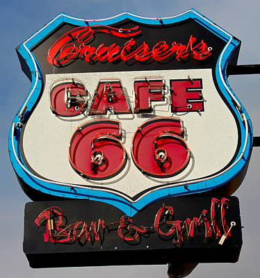 Photograph - Cruiser's Cafe 66 Bar And Grill by Denise Mazzocco