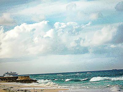Cruising Along In The Bahamas Art Print by Rick Grossman
