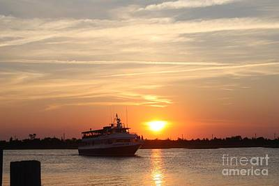 Cruising At Sunset Art Print