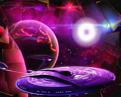 Digital Art - Cruising By The Super Nova by Mario Carini
