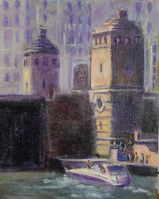 Painting - Cruising Chicago by Will Germino