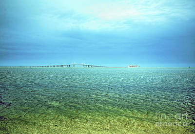 A Cloudy Day In Tampa Bay Art Print