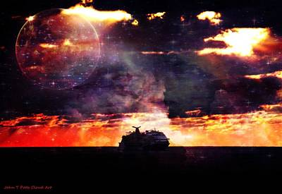Photograph - Cruising In Sunset by John Potts