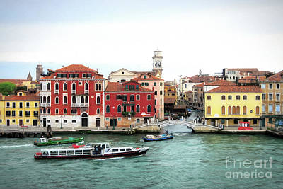 Art Print featuring the photograph Cruising Into Venice by Mel Steinhauer