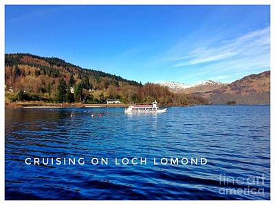 Photograph - Cruising On Loch Lomond by Joan-Violet Stretch