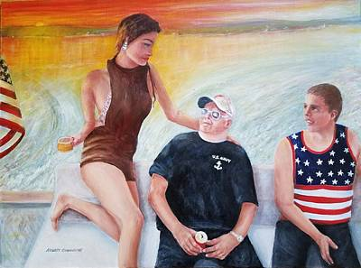 Painting - Cruising The 4th Of July by Robert Harrington