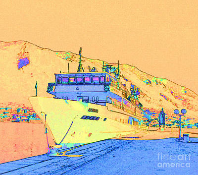 Port Town Digital Art - 		Cruising The Adriatic Sea			 by Ann Johndro-Collins