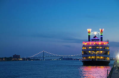 Photograph - Cruising The Detroit River by Ted Lang