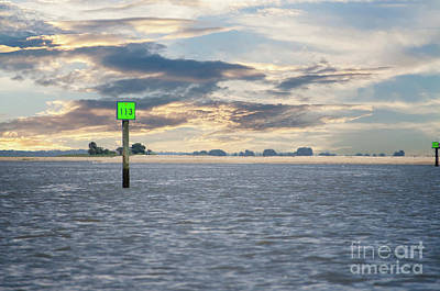 Photograph - Cruising The Icw At Sunset by Dale Powell