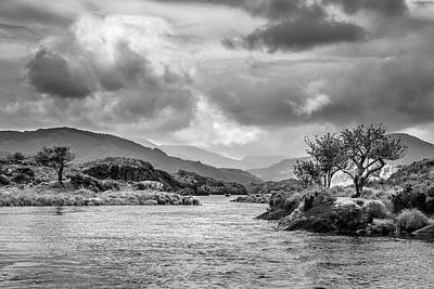 Photograph - Cruising The Lakes In Black And White by Debra and Dave Vanderlaan