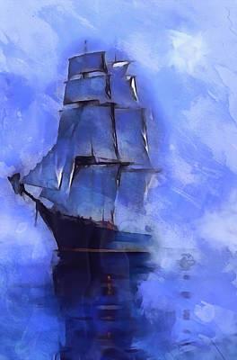Cruising The Open Seas Art Print