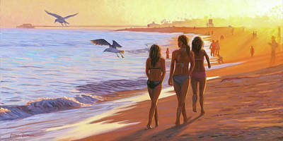 Painting - Cruising The Strand by Steve Simon