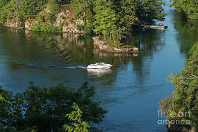 Photograph - Cruising Through Thousand Islands by Les Palenik