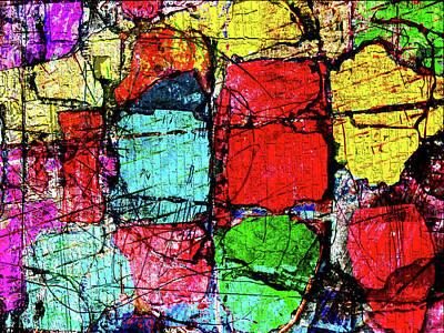 Crumbling Stone Wall Art Print by Don Gradner