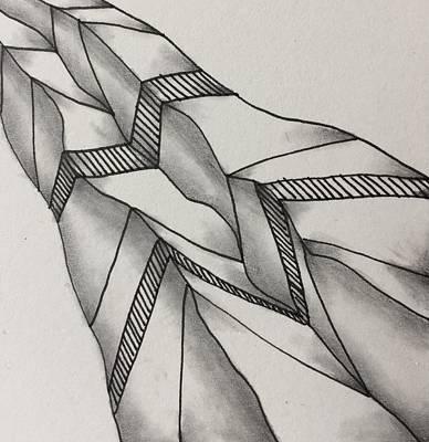 Drawing - Crumpled by Jan Steinle
