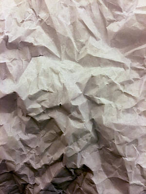 Photograph - Crumpled Paper by Bill Owen