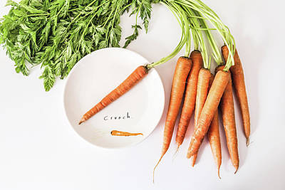 Carrot Photograph - Crunch by Kim Hojnacki