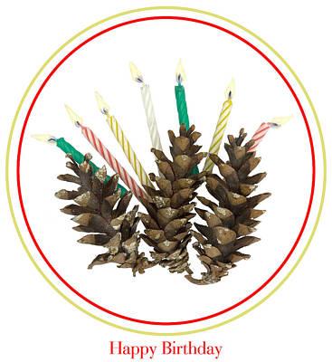 Mixed Media - Crunchy Birthday Cake by Lise Winne