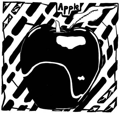 Cruncy And Delicious Maze Of Apple Art Print by Yonatan Frimer Maze Artist