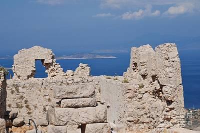 Photograph - Crusader Castle Ruins On Halki by David Fowler