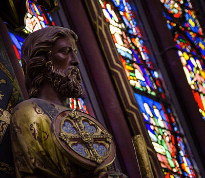 Photograph - Crusader In St Chappelle by Vicki Jauron